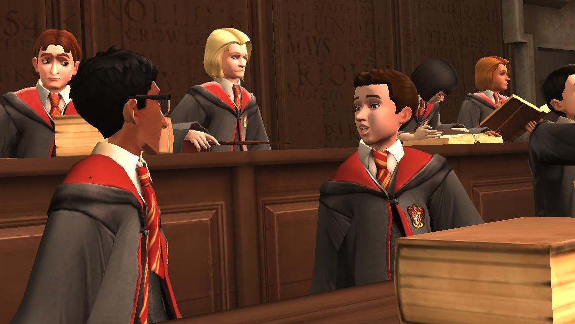 des têtes de Sims un peu partout mais version sorcier.