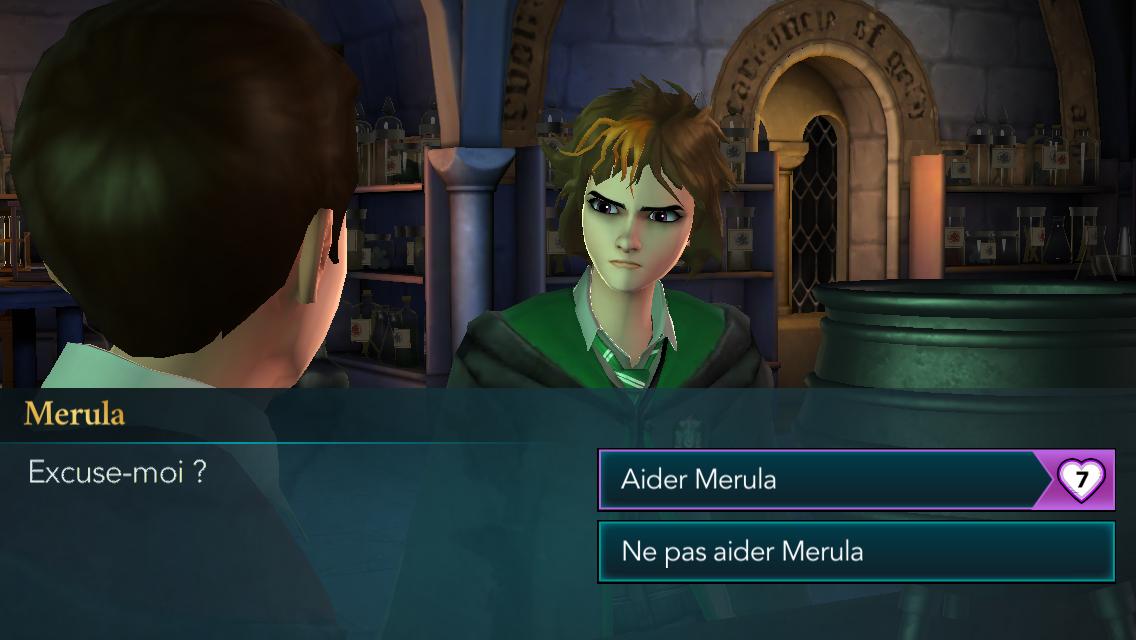 Serpentard, on ne peut pas oublier cette chère Merula, la petite punk rebelle et sa mèche
