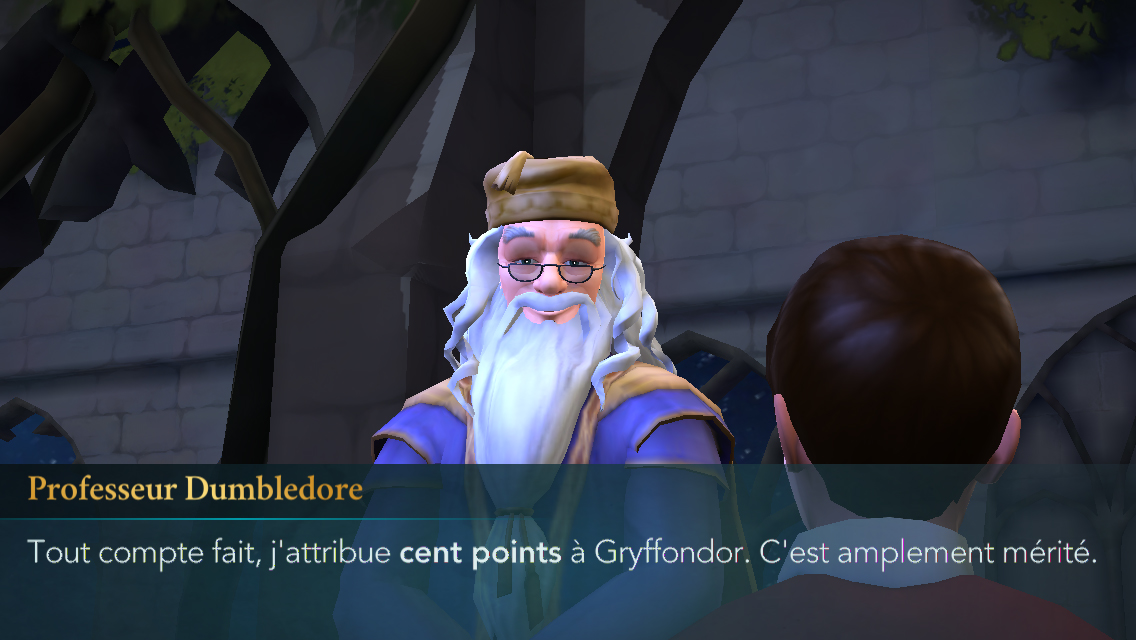 Le professeur Dumbledore va nous octroyer 100 points
